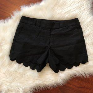 J. Crew black size 4 black shorts
